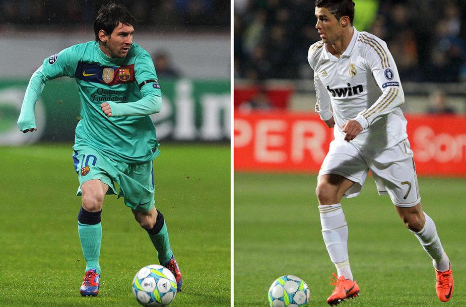 Lionelis Messi prieš Cristiano Ronaldo.