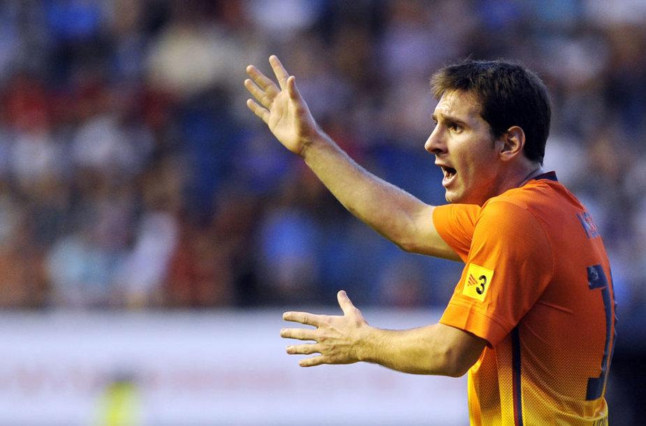 Lionelis Messi įmušė du įvarčius