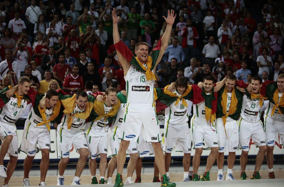 Lietuvos krepšininkų triumfas iškovojus bronzą 2010 metų pasaulio čempionate