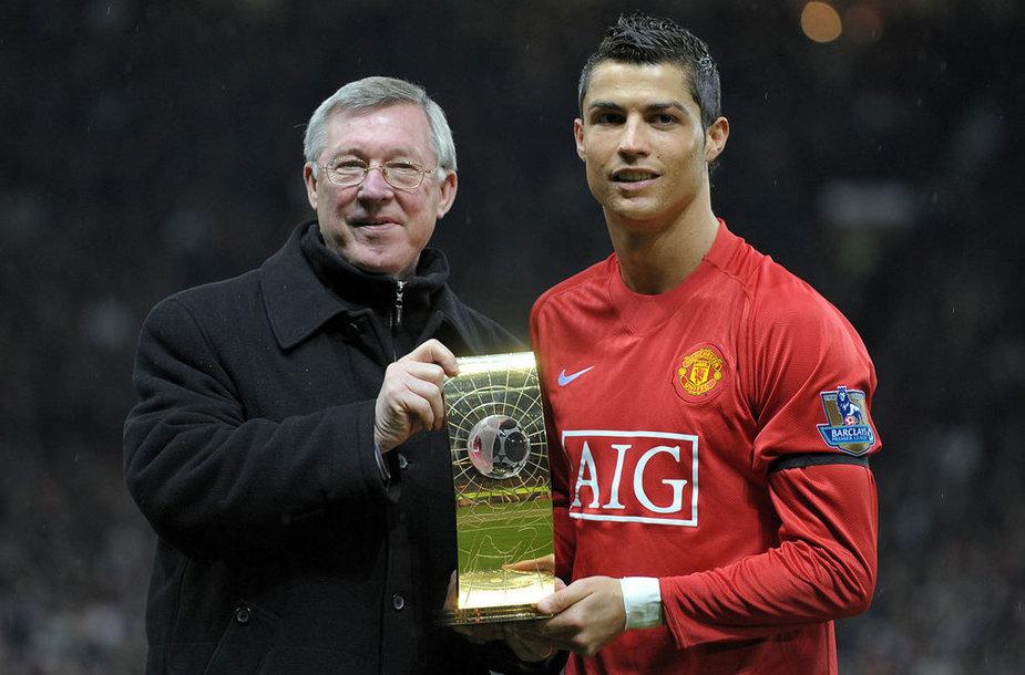 Alexas Fergusonas ir Cristiano Ronaldo