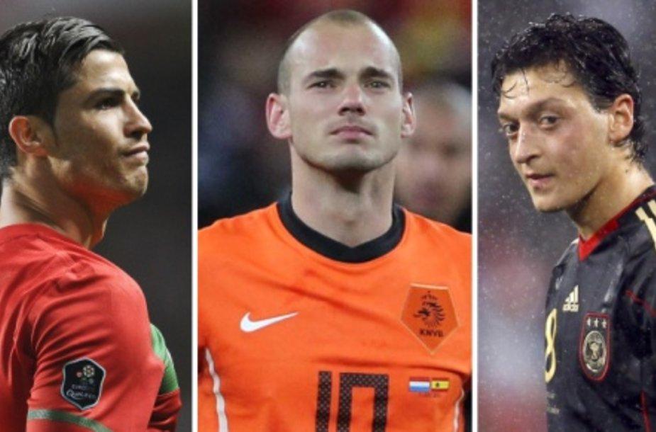 Cristiano Ronaldo, Wesley Sneijderis ir Mesutas Ozilas susitiks jau grupių etape.