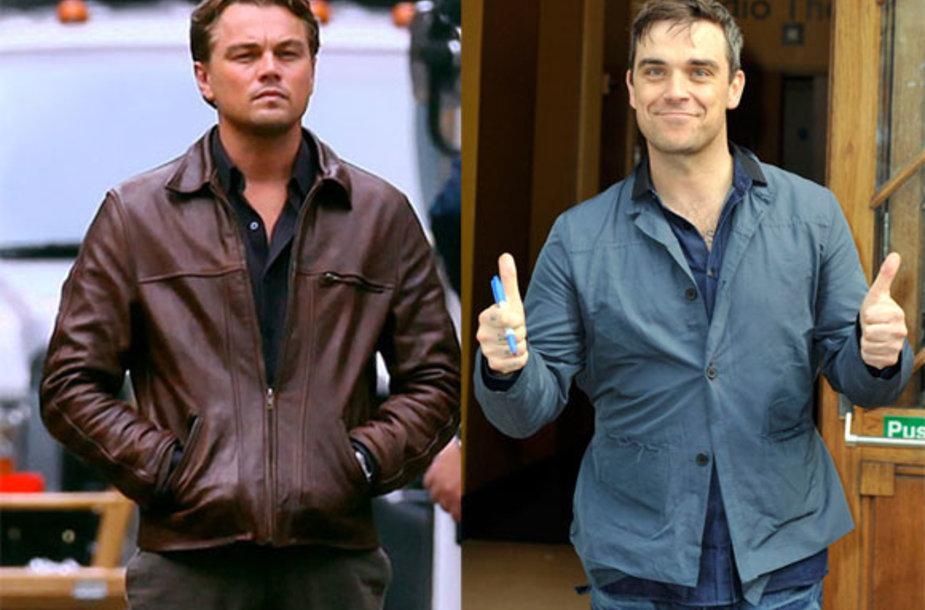 Leonardo DiCaprio ir Robbie Williamsas