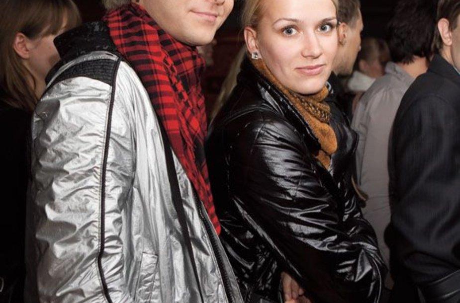 Arvydas Martinėnas-Vudis su buvusia drauge Kristina Mažeikaite