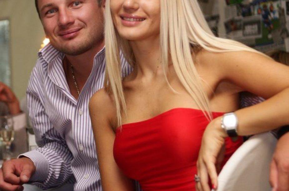 Nerijus Barasa su žmona