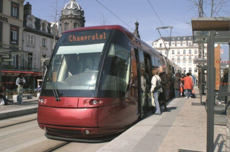 Tokie tramvajai važinėja Klermone-Ferane, viename šalčiausių Prancūzijos miestų.