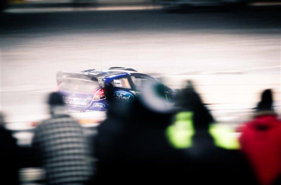 """""""Rally Sweden 2012"""" dienoraštis. Pirmasis greičio ruožas"""