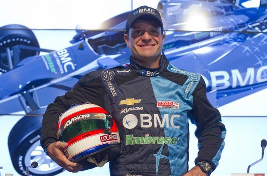 "Rubensas Barrichello lenktyniaus ""Indycar"""