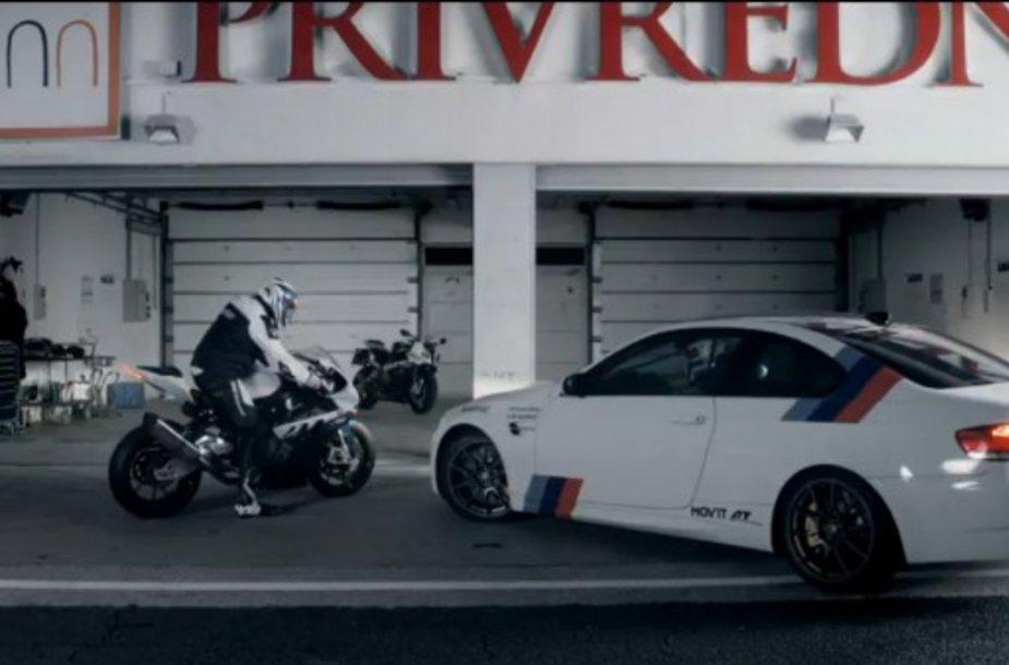 """BMW M3 ir """"BMW S1000 RR Superbike"""""""