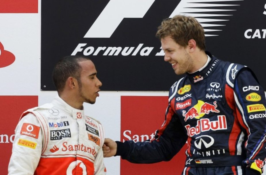Lenktynių nugalėtojas Sebastianas Vettelis