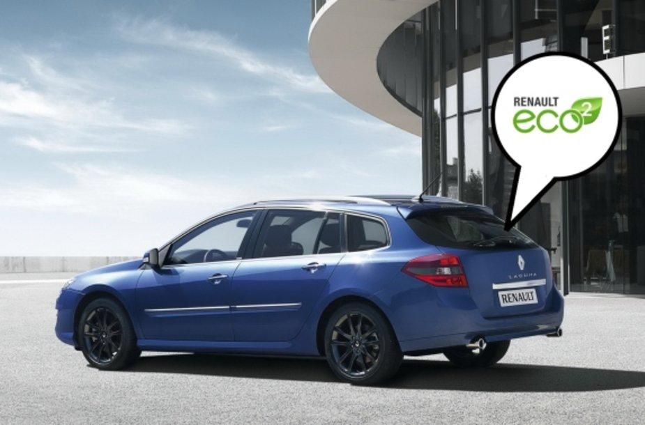 """""""Renault Laguna"""" su """"Eco2"""" lipduku"""