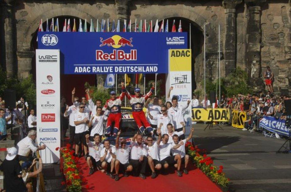 WRC etapo Vokietijoje nugalėtojas - Sebastienas Ogier