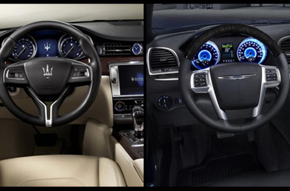 """Maserati"" ir ""Chrysler"" interjerai"