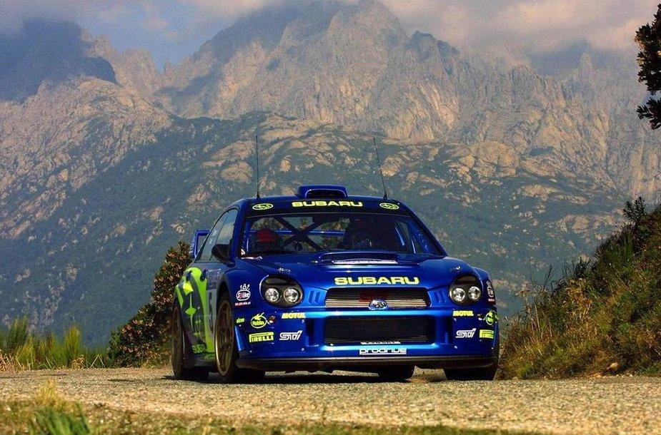 """Subaru Impreza WRC"" su Petteriu Solbergu prie vairo"