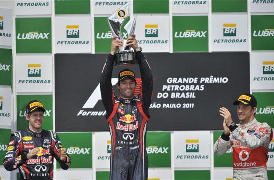 """""""Formulės-1"""" Brazilijos GP lenktynių akimirka"""