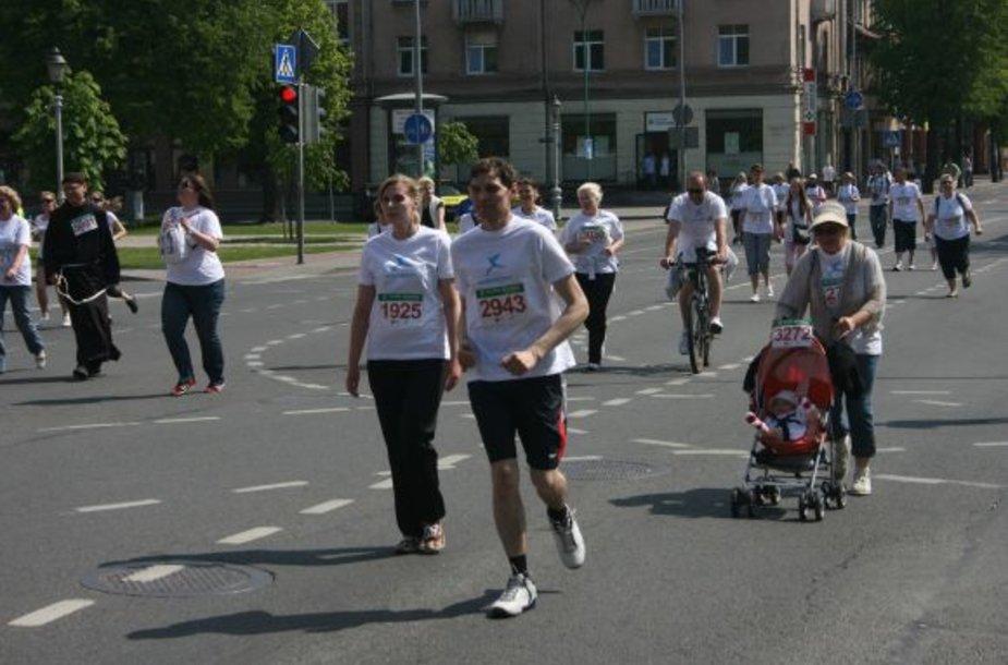 Trasoje buvo įvairiausio amžiaus ir fizinio pasirengimo dalyvių.