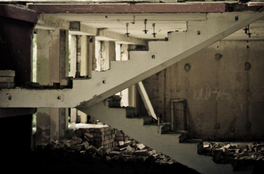 Laiptai buvo tokie patys, kaip antrame ir trečiame aukšte, todėl Genadijus pagalvojo, jog visa tai – susiję dalykai.