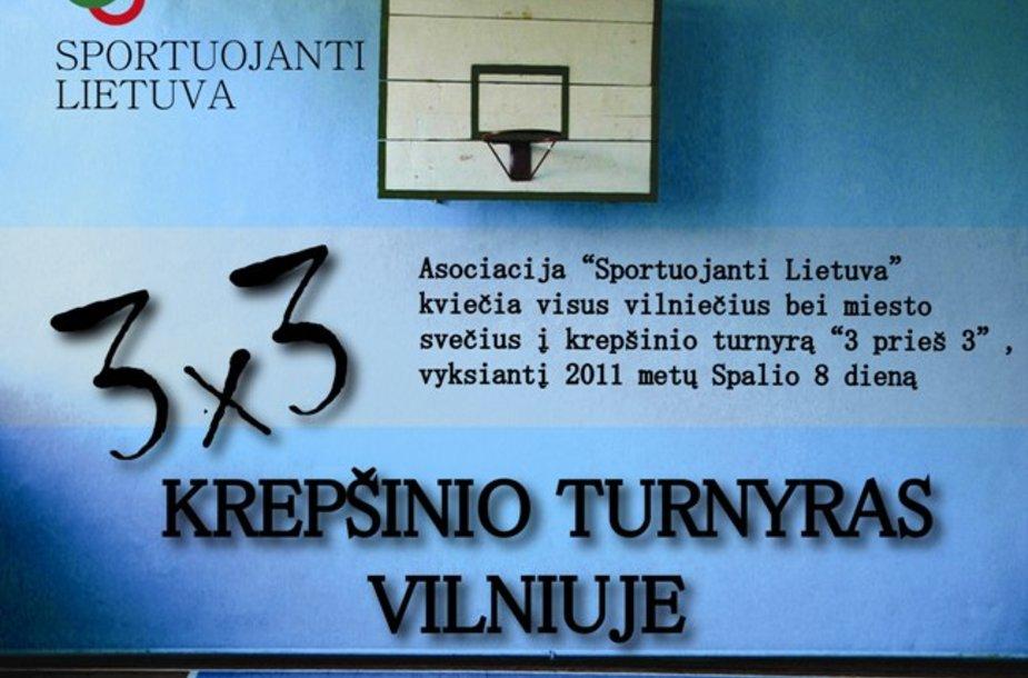 """""""Sportuojanti Lietuva"""" krepšinio mėgėjų  turnyras """"3x3"""""""