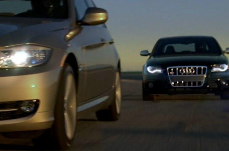 """""""Audi"""" ir BMW reklaminis karas tęsiasi"""