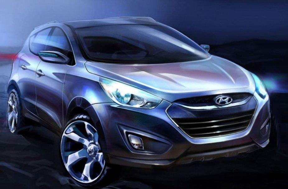 """Hyundai ix35"" – pirmieji eskizai"