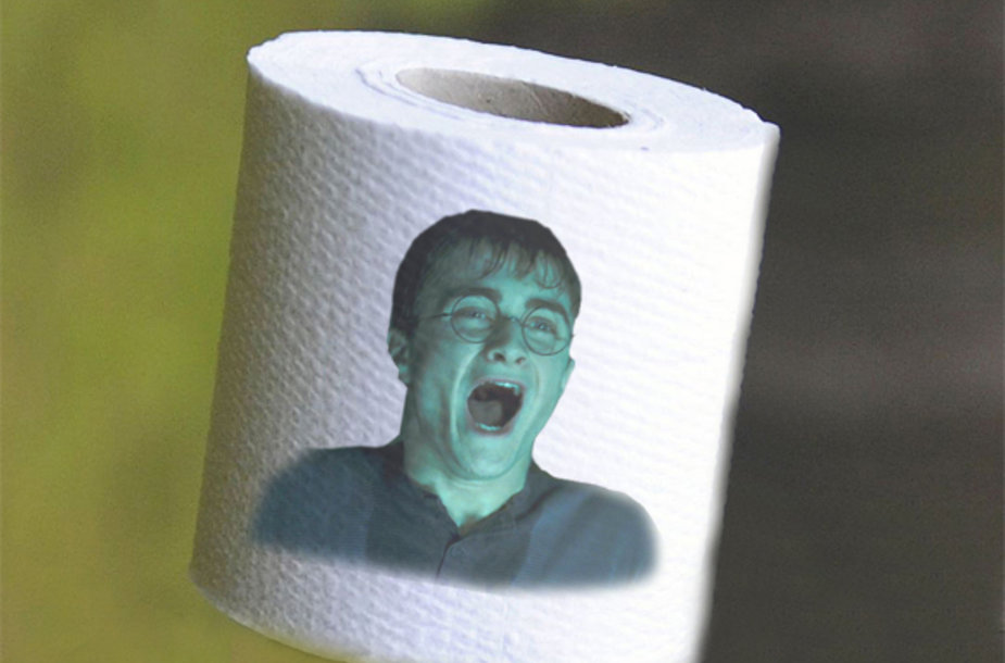 Danielis Radcliffe'as ant tualetinio popieriaus