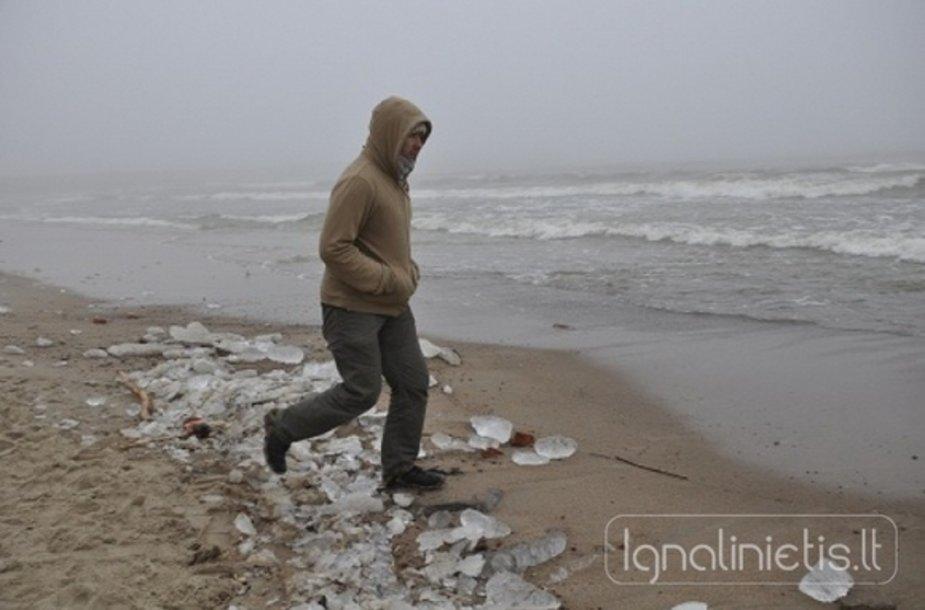 Vyras prie Baltijos jūros
