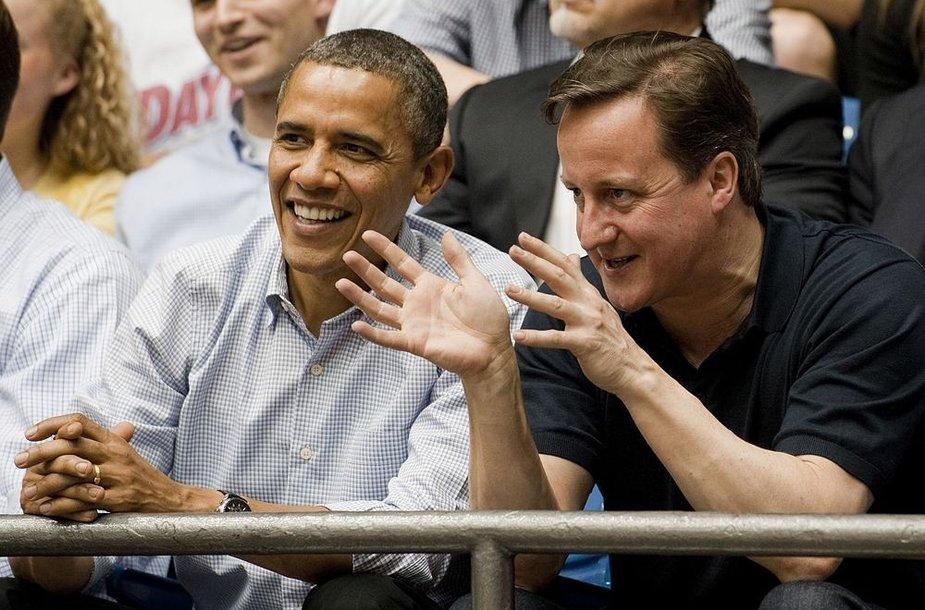 JAV prezidentas Barackas Obama ir britų premjeras Davidas Cameronas