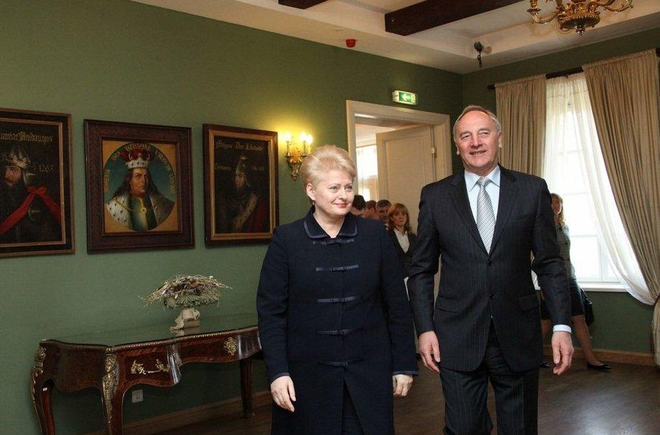 Dalia Grybauskaitė ir Andris Bėrzinis