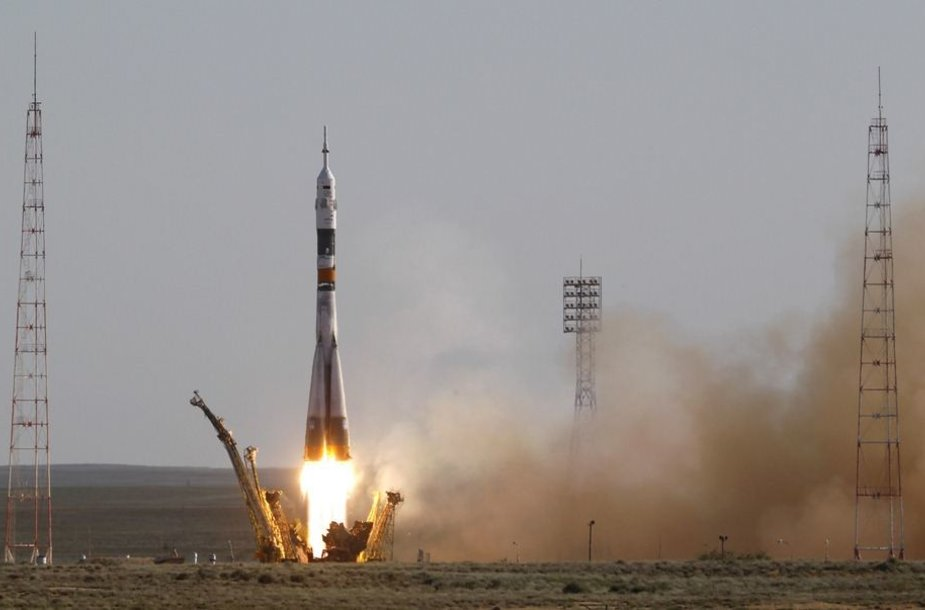 """""""Sojuz FG"""" raketos pakilimas"""