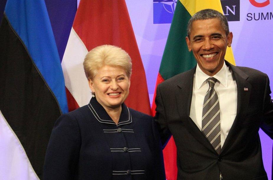 Lietuvos prezidentė Dalia Grybauskaitė ir JAV prezidentas Barackas Obama