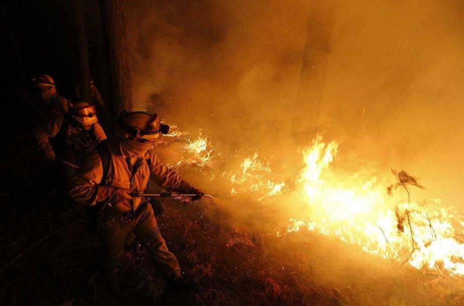 Miškų gaisras Ispanijoje