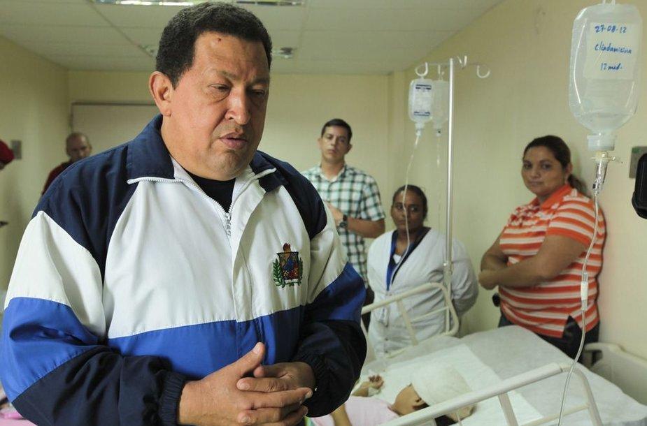 Venesuelos prezidentas Hugo Chavezas Paraguanos ligoninėje