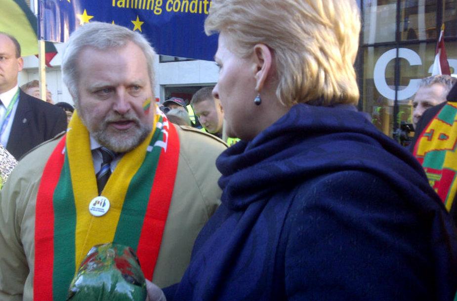 Dalia Grybauskaitė Briuselyje susitiko su ūkininkais