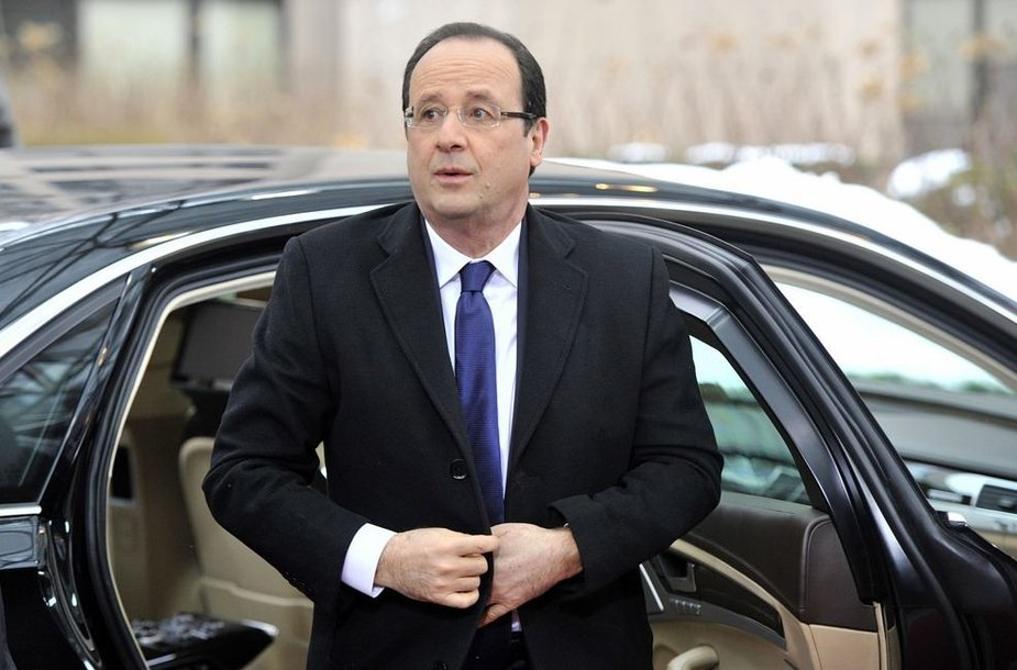 Prancūzijos prezidentas Francois Hollandeas
