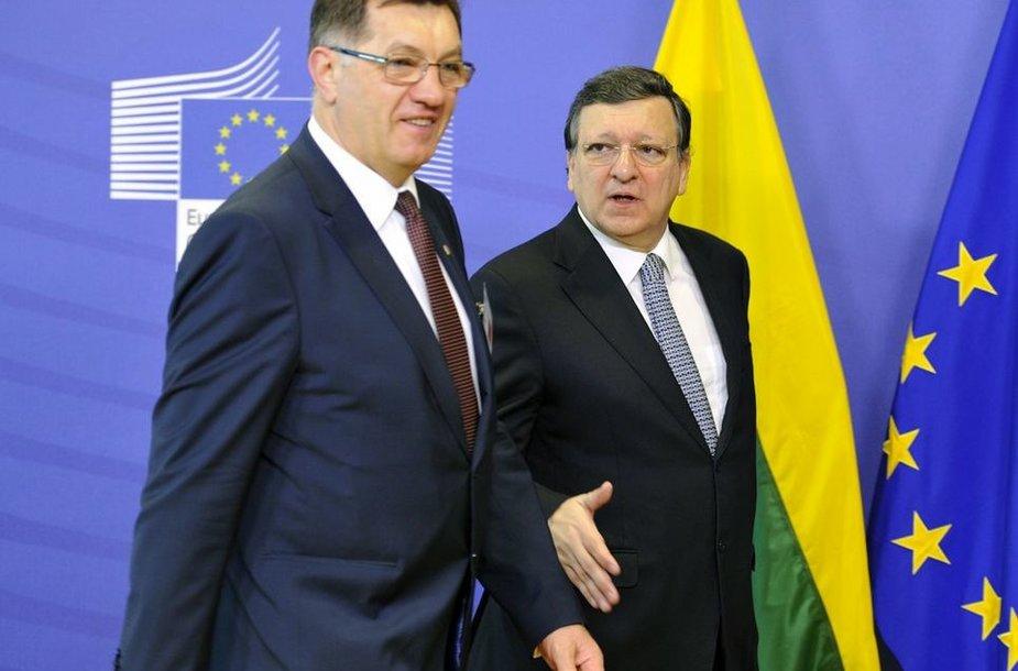 Algirdas Butkevičius ir Jose Manuelis Barroso