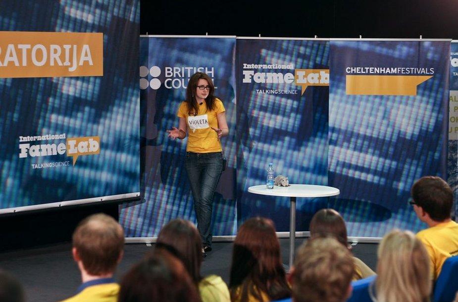 "Konkurso ""Šlovės laboratorija"" nugalėtoja Violeta Araminaitė"