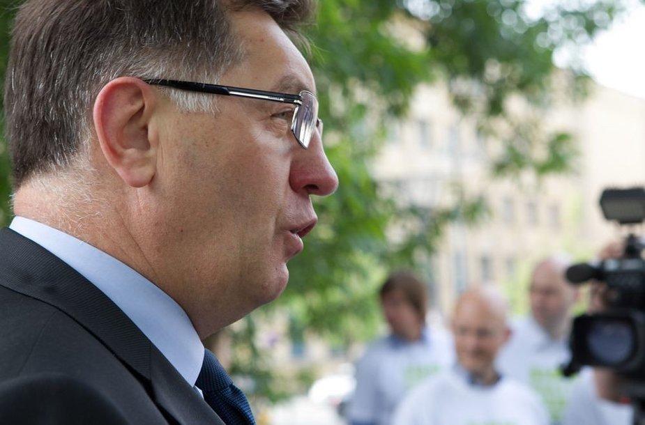 Su akcijos dalyviais susitiko premjeras Algirdas Butkevičius