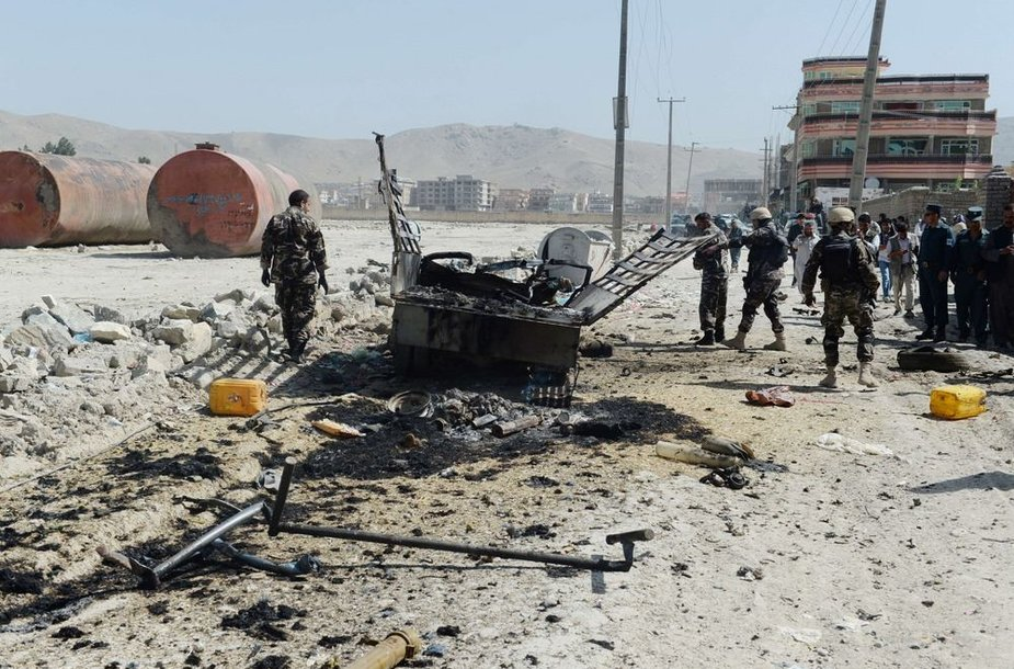 Prie Kabulo karinio oro uosto susisprogdino mirtininkas