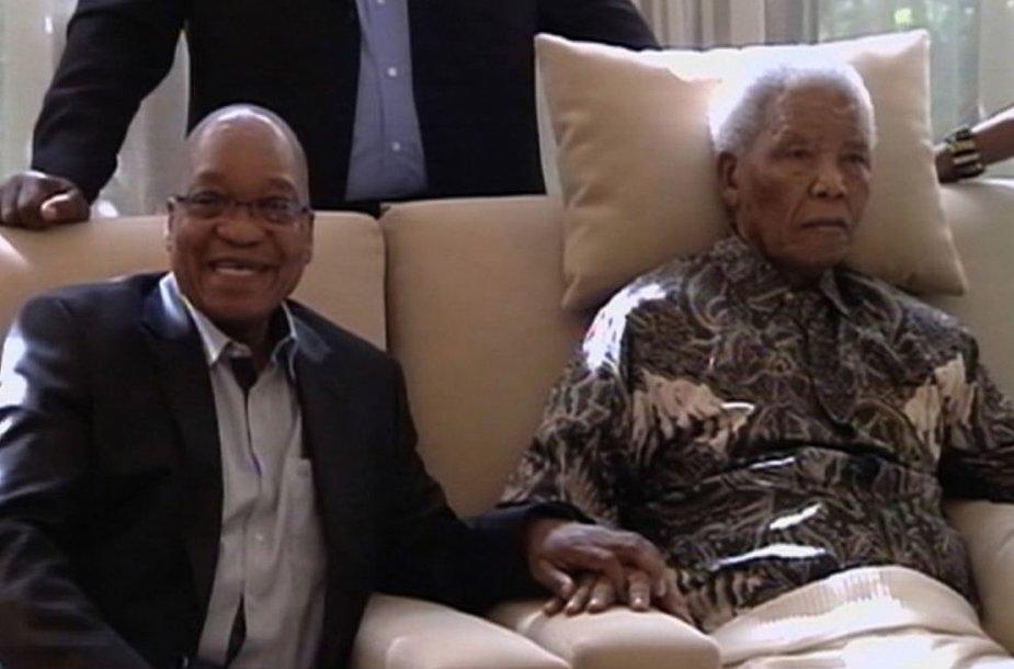 Jacobas Zuma ir Nelsonas Mandela