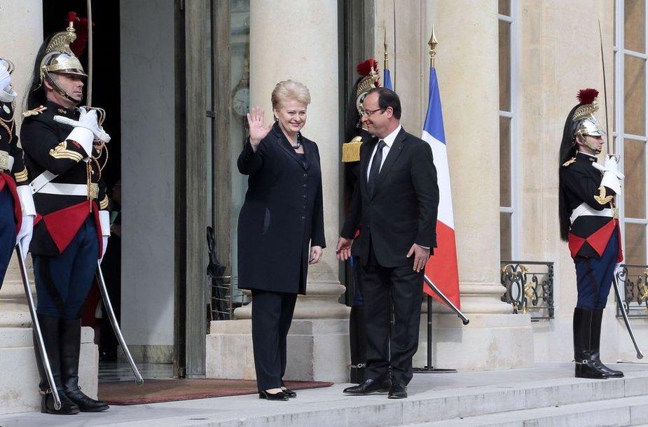 Dalia Grybauskaitė ir Francois Hollande'as