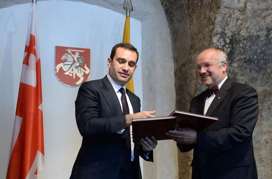 Irakli Alasania ir Juozas Olekas