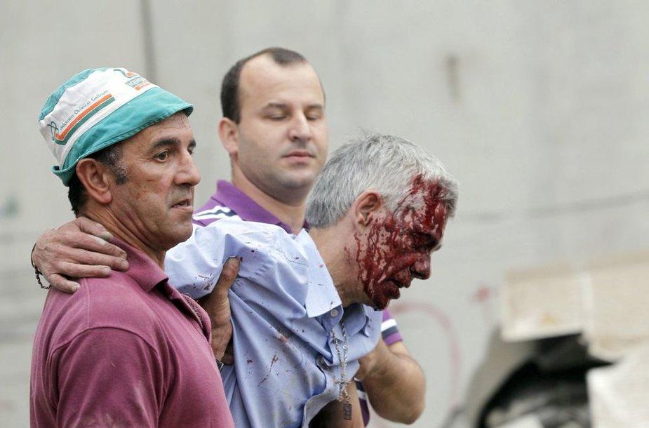 Sužeistas greitojo traukinio mašinistas Francisco Jose Garzonas Amo