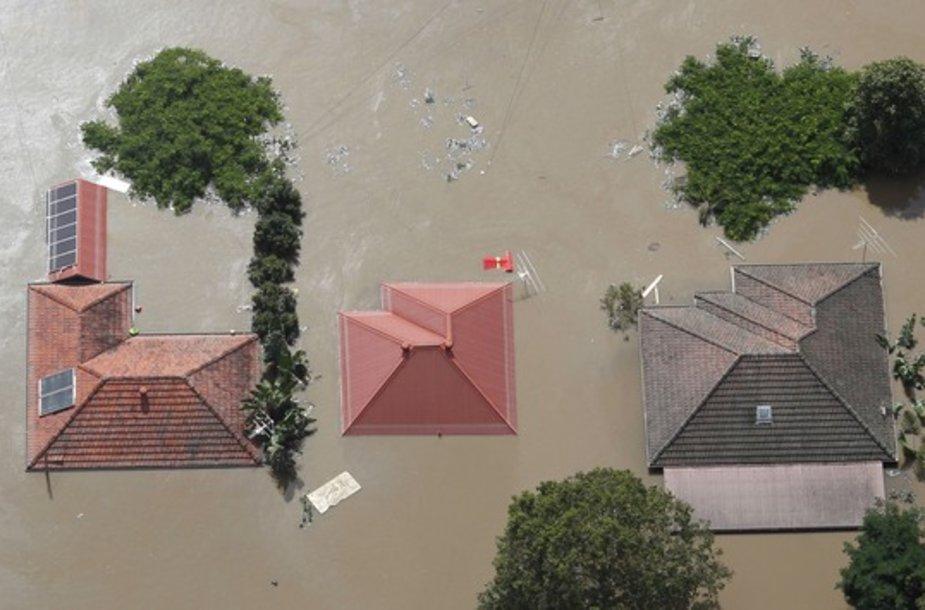 Potvynis Brisbano vakaruose