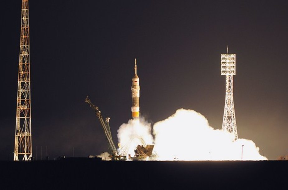 """Sojuz TMA-21"" starto akimirka"