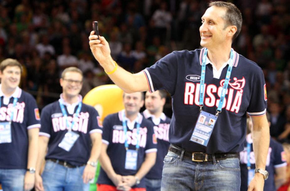 Rusijos vyrų krepšinio rinktinės treneris Davidas Blattas