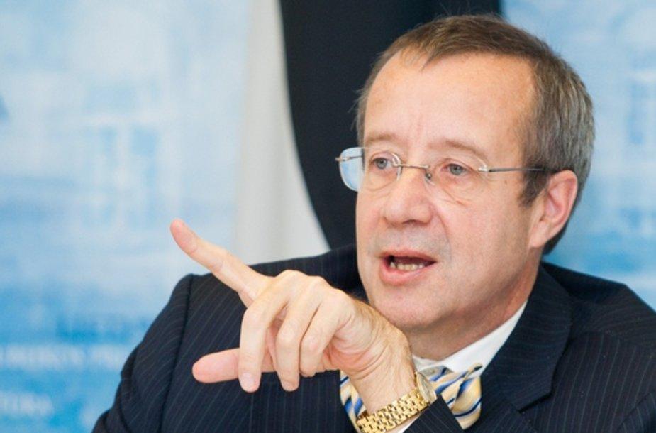 Estijos prezidentas Toomas Hendrikas Ilvesas