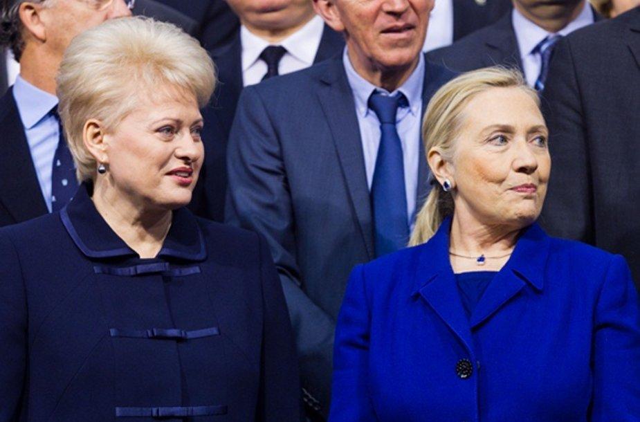 Lietuvos prezidentė Dalia Grybauskaitė ir Hillary Clinton