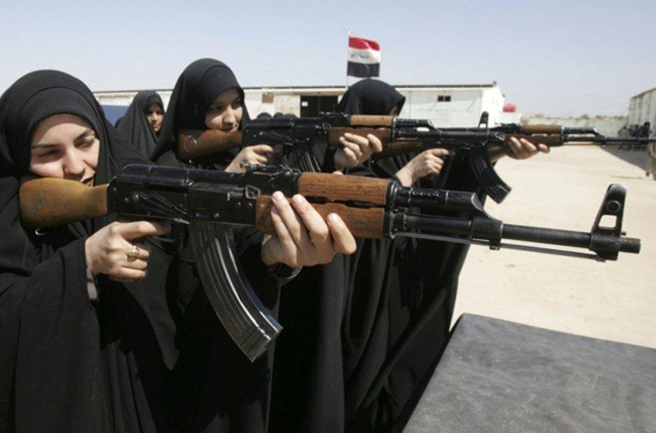 Irako policininkės per treniruotes Kerbaloje (2009 m. kovo 22 d.)