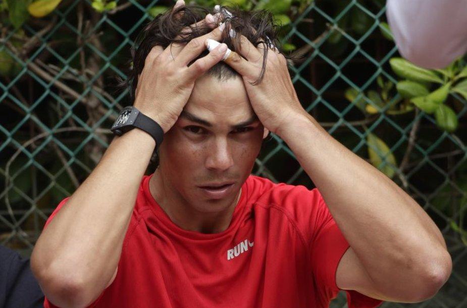 Rafaelis Nadalis tęsia pergalingą žygį ant grunto.