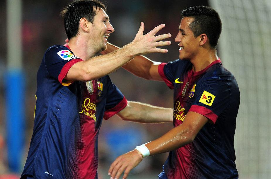 Lionelis Messi ir Alexis Sanchezas