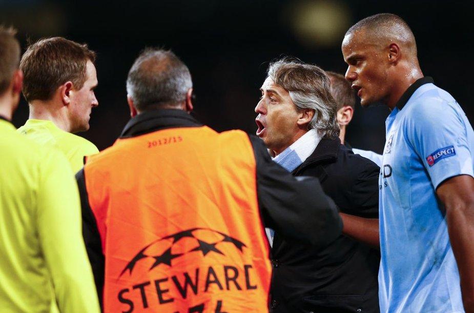 Roberto Mancini tikina, kad Čempionų lygoje jo komandai vilčių beveik nebėra